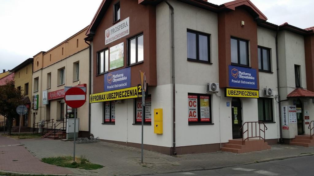 Biuro PROMAX Ubezpieczenia ul. Iłżecka 20 w Ostrowcu Św.