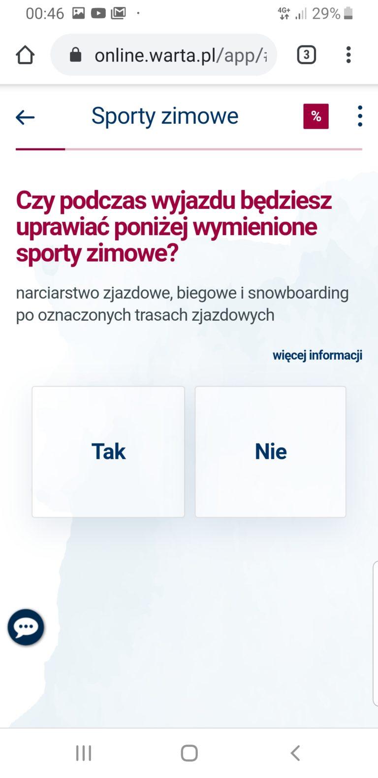 ubezpieczenie na narty za granicą warta travel online - zimowe sporty uprawiane amatorsko