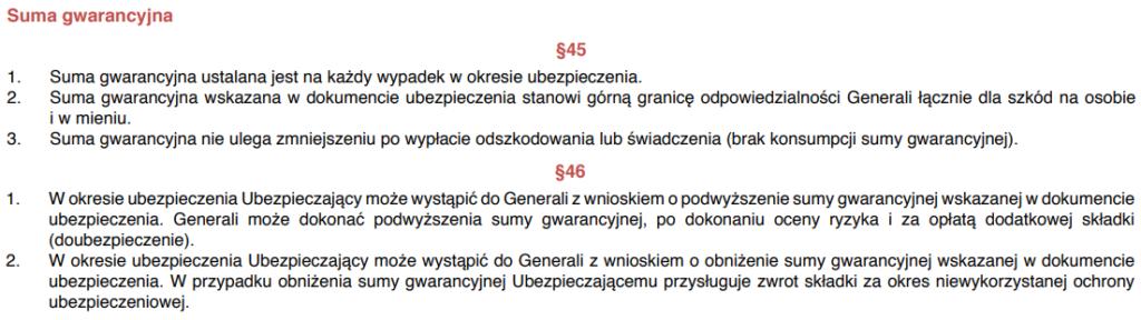 Suma gwarancyjna OC w zyciu prywatnym Generali zapis z OWU 1024x288 - OC w życiu prywatnym