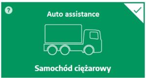 Auto assistance czyli holowanie w razie awarii i wypadku dla pojazdu ciężarowego do 3.5 tony DMC