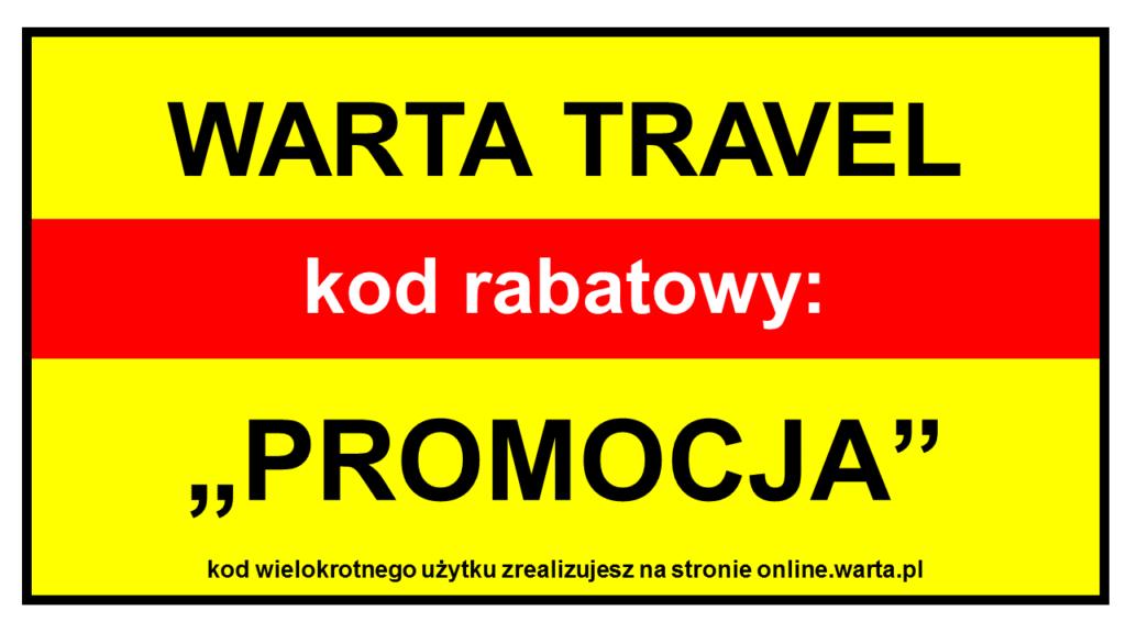Kod rabatowy Warta Travel - 50% zniżki na ubezpieczenie turystyczne Warta Online
