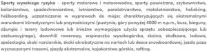 Kod zniżkowy strefannw.pl nie sprawi, że te sporty znikną z zakresu polisy