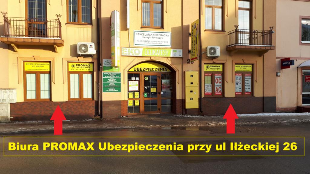 Biuro PROMAX Ubezpieczenia Katarzyna Bąk Iłżecka 26 Ostrowiec Św.