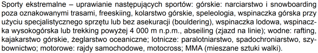"""Kod rabatowy Warta """"PROMOCJA"""" naliczy rabat nawet na polisę obejmującą wymienione sporty ekstremalne"""