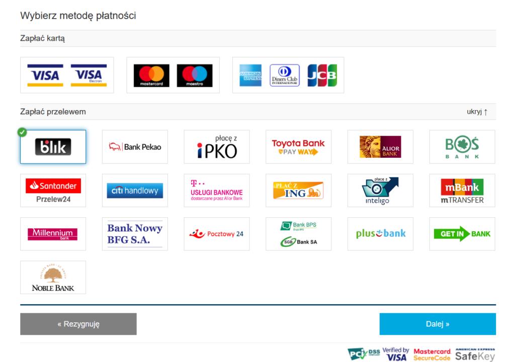 Wznowienie ubezpieczenia OC online płatności elektroniczne PROMAX